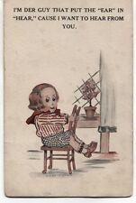 "Cobb X Shinn postcard.  Boy: ""I want to hear from you"""