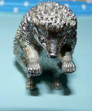 Hedgehog Ornament / paperweight heavy 5cm NEW Zinc die cast Stamped on bottom