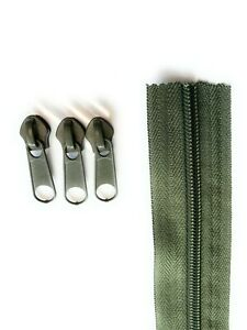 ADS Zipper Continuous Nylon No.8 & No.10 Zip with Sliders #5 Chain Zip on Roll