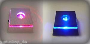 Lichtsockel mit Acrylglasring für Glasfigur  Glas 3D Gravur