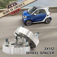 "3x112 - 3x112 (3 Lug Smart Car) | 1"" Wheel Spacers | x2 USA MADE"