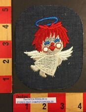 Angelic Patch Large Redheaded Angel On Denim With Halo 57E