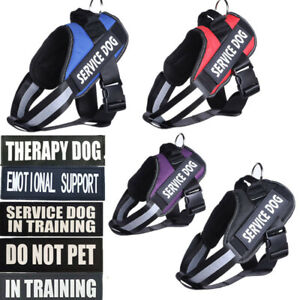 Service Dog Harness Soft Vest Walking Out Hand Strap Pet Collar for Lab Pit Bull