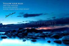 Joseph Campbell preventivo pre firmato Photo Print - 12 x 8 pollici-GLI EROI Viaggio