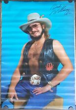Hank Williams Jr. poster 1983 Original unused approx 24 x 36 rare