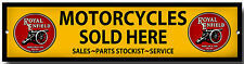 Royal Enfield Motorcycles Sold Here Enamelled Metal Sign,Garage Sign