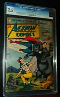 ACTION COMICS SUPERMAN #140 1950 D.C. DC Comics CGC 2.5 GOOD+