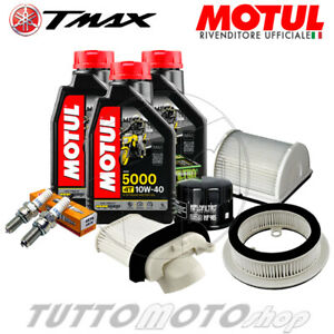 KIT TAGLIANDO YAMAHA TMAX 500 2001 2002 2003 OLIO FILTRI CANDELE T-MAX
