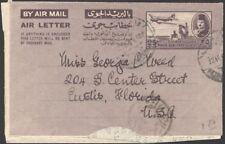 EGYPT, 1954. Air Letter FrontH&G 4, Eustis, Florida