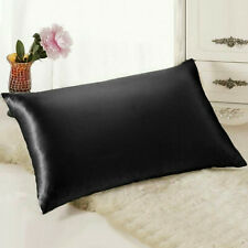 2 Pcs Mulberry Silk Like Pillow Case Cover Bedroom Housewife Queen Standard