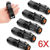 6X Mini Q5 7W 1200Lm LED Flashlight Torch Lamp Adjustable Focus Zoom Light