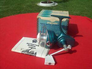 Vintage Penn 720 Spinning Fishing Reel Box & Paper  Salt Water,Made In USA