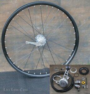 "24"" Chopper Bike 3 Speed WHEEL Stick Shifter Slick Tire Schwinn Cruiser Bicycle"