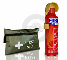 500ml EASY USE FIRE EXTINGUISHER+42 PCS FIRST AID KIT FOR CARS CARAVAN HOME