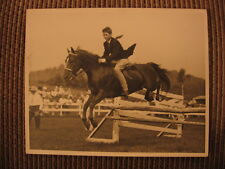 Champion Morgan Horse Lippitt Mandate & Robert Mathias up Jumping Original Photo