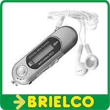 REPRODUCTOR MULTIMEDIA MP3 WAV GRABACION VOZ RADIO FM AURICULARES GRIS BD9317