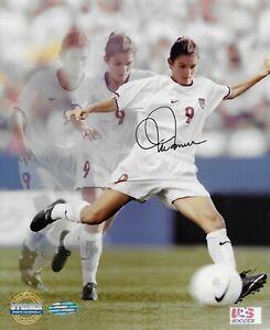 Steiner Mia Hamm Kicking U.S World Cup Signed Photo 8x10 Hologram COA RARE