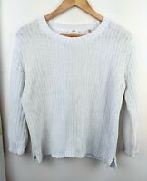 Levis White Knitted Jumper Size S