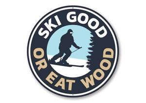 Ski Good Sign, Ski Resort Sign, Ski Lodge Decorative Sign, Skier Gift Metal Sign