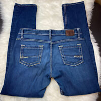 Women's BKE Buckle Jeans Payton Size 30R Boot Cut Mid Rise Med Wash Thick Stitch
