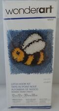 "Bumblebee Latch Hook Rug Kit Wonderart Spinrite 426233 Wall Hanging 12""X12"""