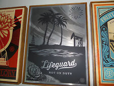 Shepard Fairey - Lifeguard Not on Duty - Fine Art - Metal Edition - Ed/ of 3