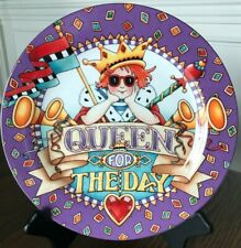 Mary Engelbreit 2001 Queen For The Day decorative display plate ceramic 10.5""