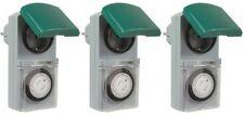 3er SET Zeitschaltuhr mechanisch Outdoor IP44 16A für Außen & Innen Timer Analog