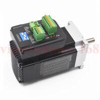 140W Nema23 Integrated Brushless Servo Motor Driver 3ph 3000RPM 0.45Nm CNC Mills