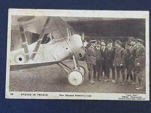 WWI ANZACS in FRANCE New Zealand Premier`s Biplane Visit by Daily Mail Official