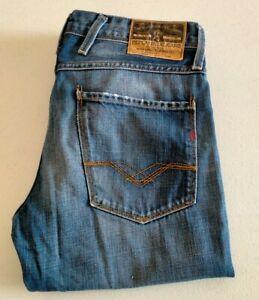 Replay Anbass Blue Faded Denim Jeans Size W31,L32 M914N.118.052
