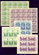U.S. #730/751 Mint Nh - 1935 Parks Sheets ($95)