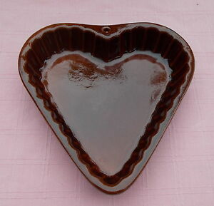 Bay Keramik 192 23 - 70er Jahre Herz-Form - Kuchenform - Backform