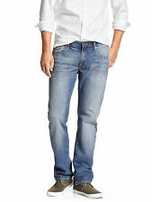 15194 Banana Republic Mens Med Blue Wash Vintage Straight Leg Jeans  34W x 32L