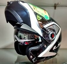 LS2 Helmets-FF386 Armory Black White -Flip-Up Modular Imported Motorcycle Helmet