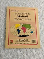American Scholar Cuaderno de Mapas Book of Maps 40 Perforated Pages Home School