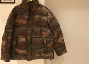 Carhartt WIP Deming Camo Puffa Jacket - Size Medium