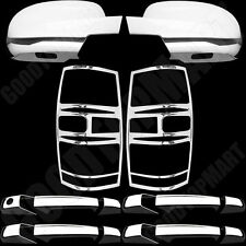 For Chevy Tahoe 07-14 Chrome Cover Set 4 Door Handles, Taillight Covers, Mirrors