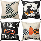 Halloween Pillow Covers 1818 Inch Trick or Treat Pillow Cover Black Buffalo NEW