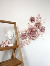 Pa-ula paper flower wall art, Nursery decoration, bedroom master piece