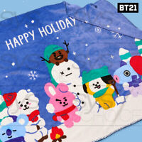 BTS BT21 Official Authentic Goods 2019 Winter Season Blanket + Tracking Number