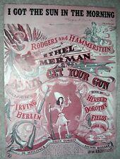 1946 I GOT THE SUN IN THE MORNING Sheet Music IRVING BERLIN Annie Get Your Gun