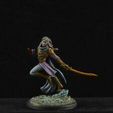 Painted Male Elven Rogue from Dark Sword Miniatures, elf assassin character D&D