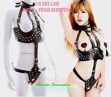 Sexy Erotic Toy Fetish Bondage Queen Dress Neck Restraint Handcuff Body Harness
