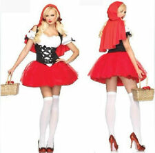 Womens Little Red Riding Hood Costume Adult Fairytale Halloween Fancy Dress