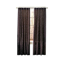 "Simply Classic Dots Midnight Black Dotted Back Tab Curtain Panel 84"" x 54"""