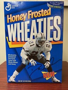 Prime Time Deion Sanders Unopened Honey Frosted Wheaties Box Dallas Cowboys
