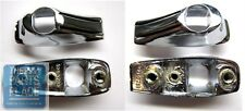1966 Pontiac GTO / LeMans Grab Bar Hand Bezels - Chrome With Black Inserts