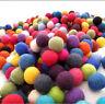 Christmas Decoration Handmade 2cm Multicolored Wool Felt Balls Choose Color