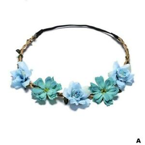 Flower Headband Head Garland Hair Band Crown Wreath Festival Boho Hippy  Beach